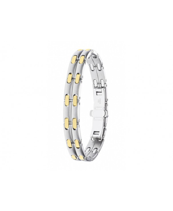 bague or acier diamant pequignet