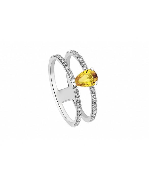 bague or jaune saphir jaune