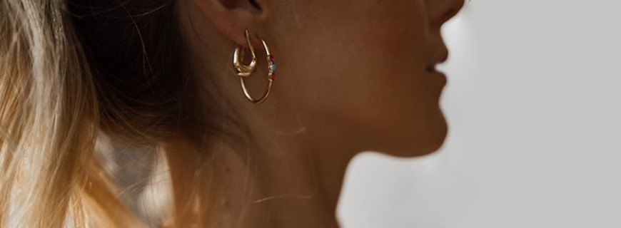 Earrings plated gold or silver, sublimate your ears | Verhelle Jewelery