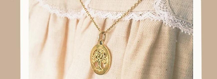 Medaillen Taufe, religiöse, vergoldet, Silber oder Platin   Verhelle Schmuck